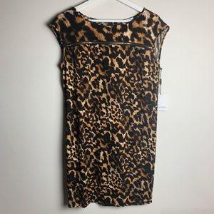 Calvin Klein's Animal Print Dress With Gold Zipper